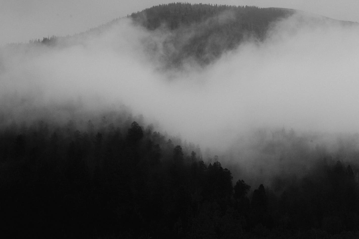 dark and stormy weather in the colorado mountains