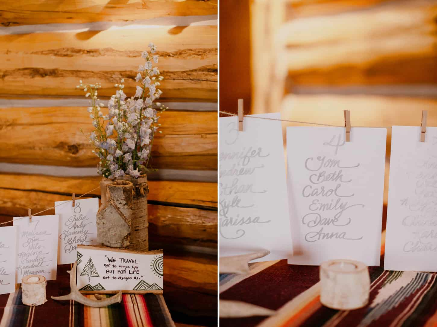 simple yet elegant guest place cards for wedding