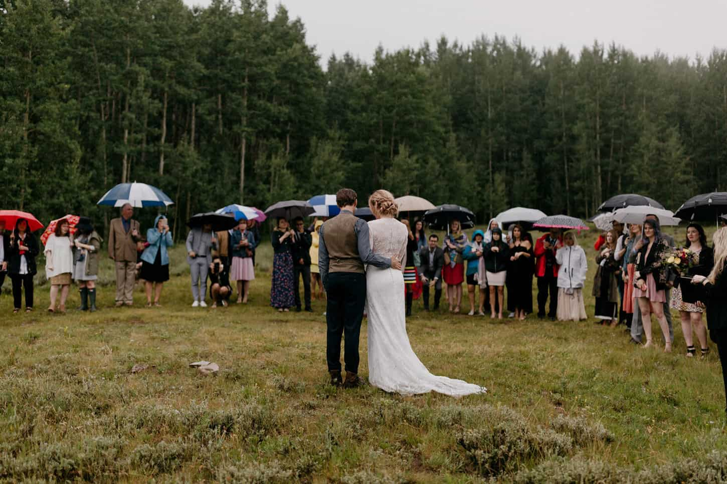 couple reads poem during wedding ceremony vows