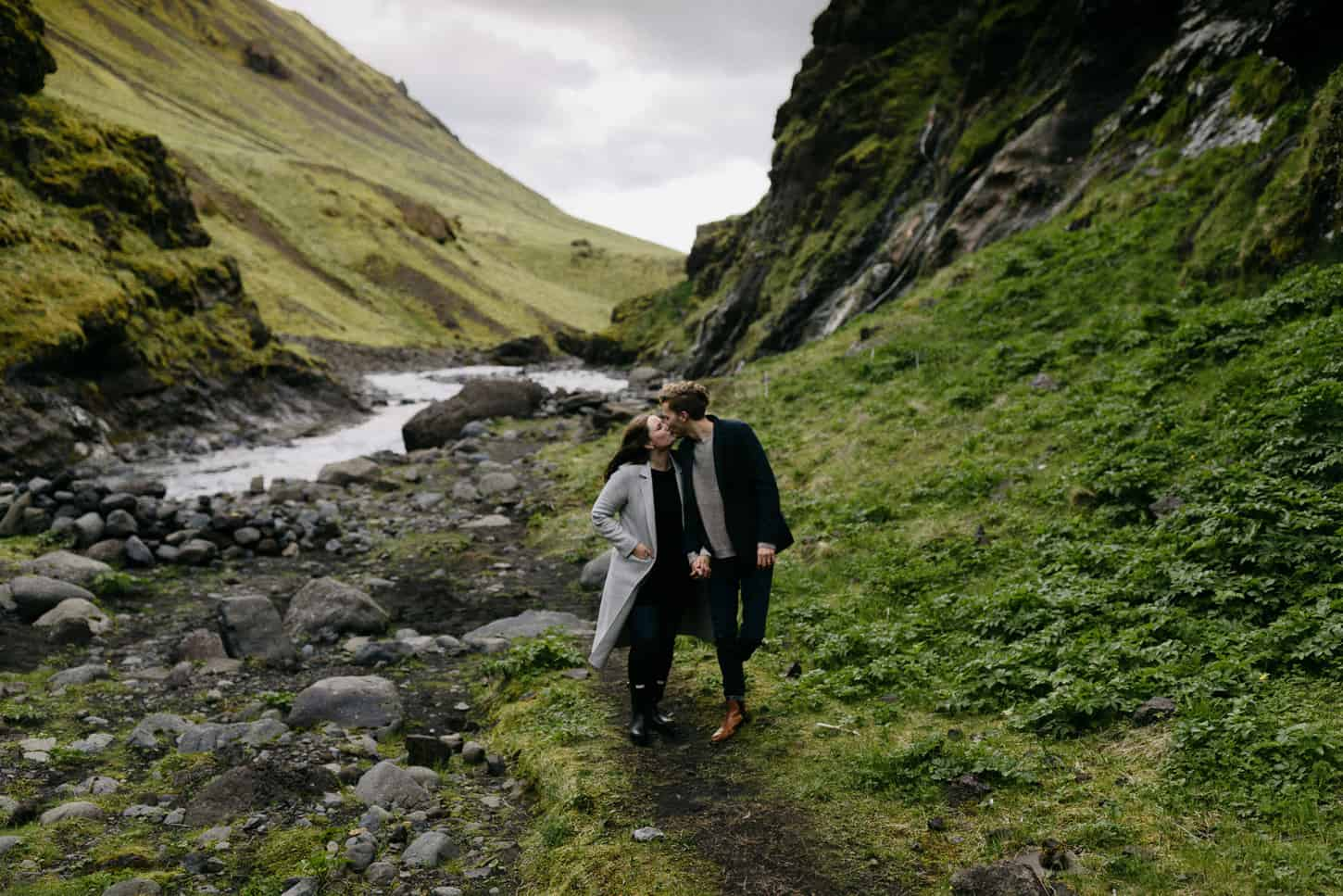 iceland intimate hipster engagement photos